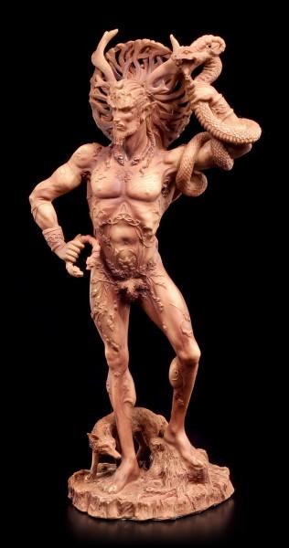 Götter Figur - Gehörnter Cernunnos - Terrakottafarben