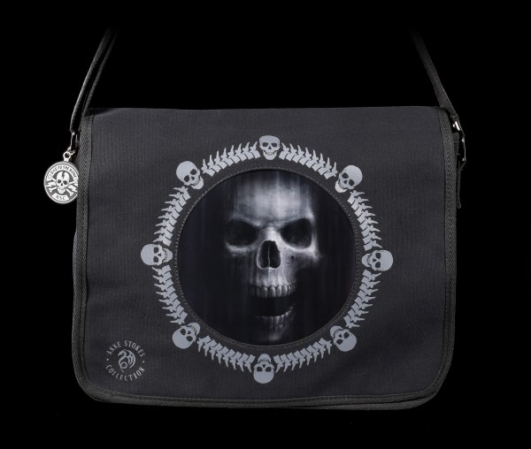 3D Messenger Bag with Skull - The Watcher