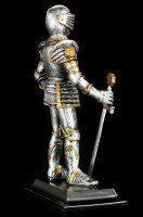 Ritter Figur mit Schwert - Goldener Löwe