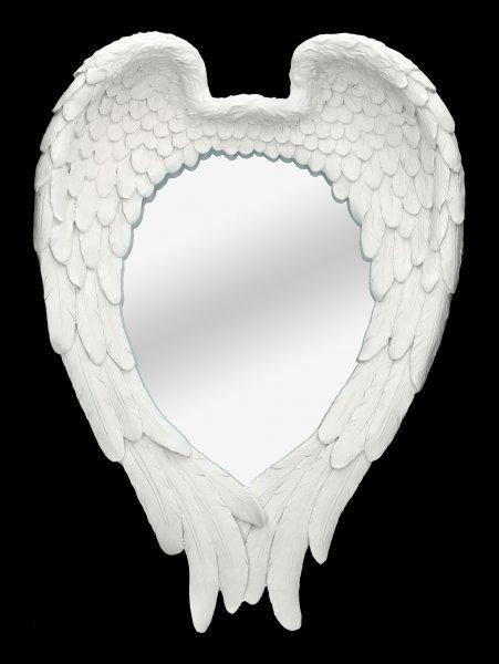 Wandspiegel - Engelsflügel weiß