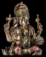 Ganesha Figur auf Lotusthron