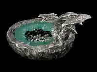 Drachen Aschenbecher - silberfarben