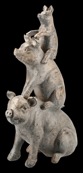 Stacked Pigs Figurine