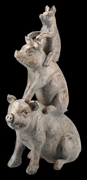 Schweine Pyramide Figur