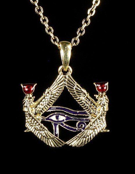 Halskette - Isis mit Auge des Horus