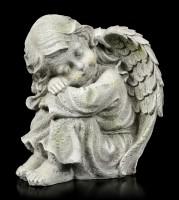 Engel Gartenfigur - Kind schlafend links - klein