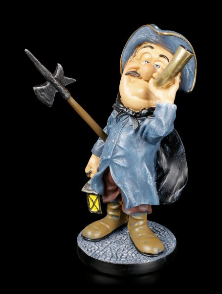 Funny Job Figurine - German Nightwatch with Horn