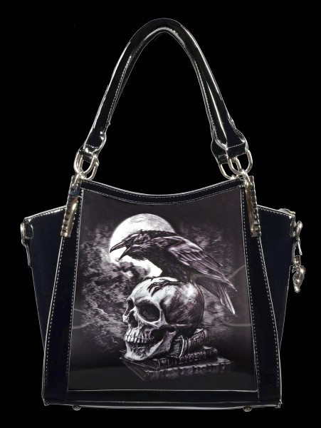 Gothic Handbag with 3D Picture - Poes Raven