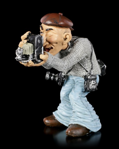 Funny Job Figurine - Photographer with old Camera