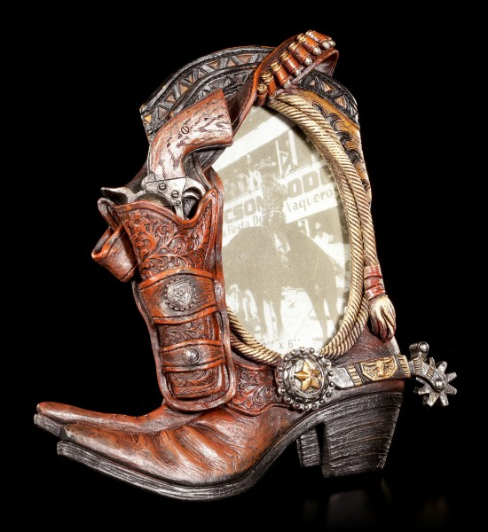 Wild West Picture Frame - Pistol with Cowboy Boots