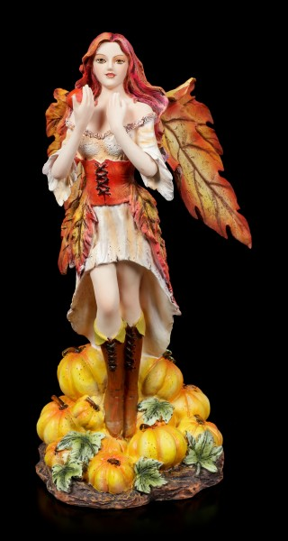 Autumn Fairy Figurine - Sonya with Pumpkins