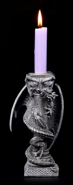 Kerzenhalter - Drache an Säule