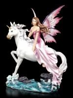 Fairy Figurine - Fucsia riding Unicorn