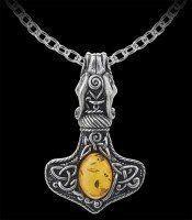 Alchemy Halskette - Amber Dragon Thorhammer