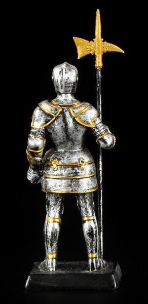 Kleine Ritter Figur mit Hellebarde