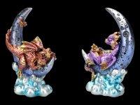 Drachen Figuren auf Mond Set