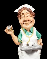 Nurse Figurine holding Tray - Funny Jobs
