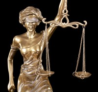 Sitting Justitia Figurine - Goddess of Justice