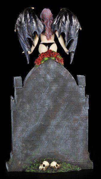 Table Clock - Vampiress Dark Angel