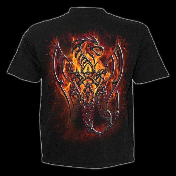 T-Shirt - Tribal Drache - Obsidian