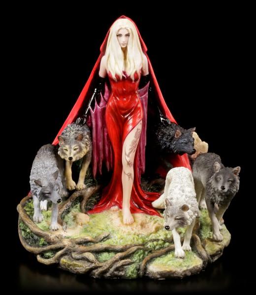 Shamanin Figur mit Wölfen - Howl