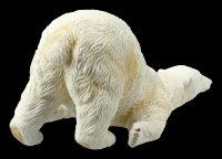 Gartenfigur - Eisbär rutscht am Boden