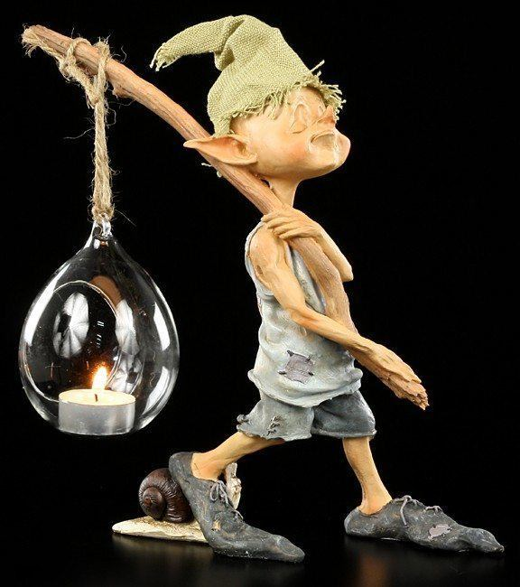 Pixie Kobold Teelichthalter - Ich geh mit meiner Laterne