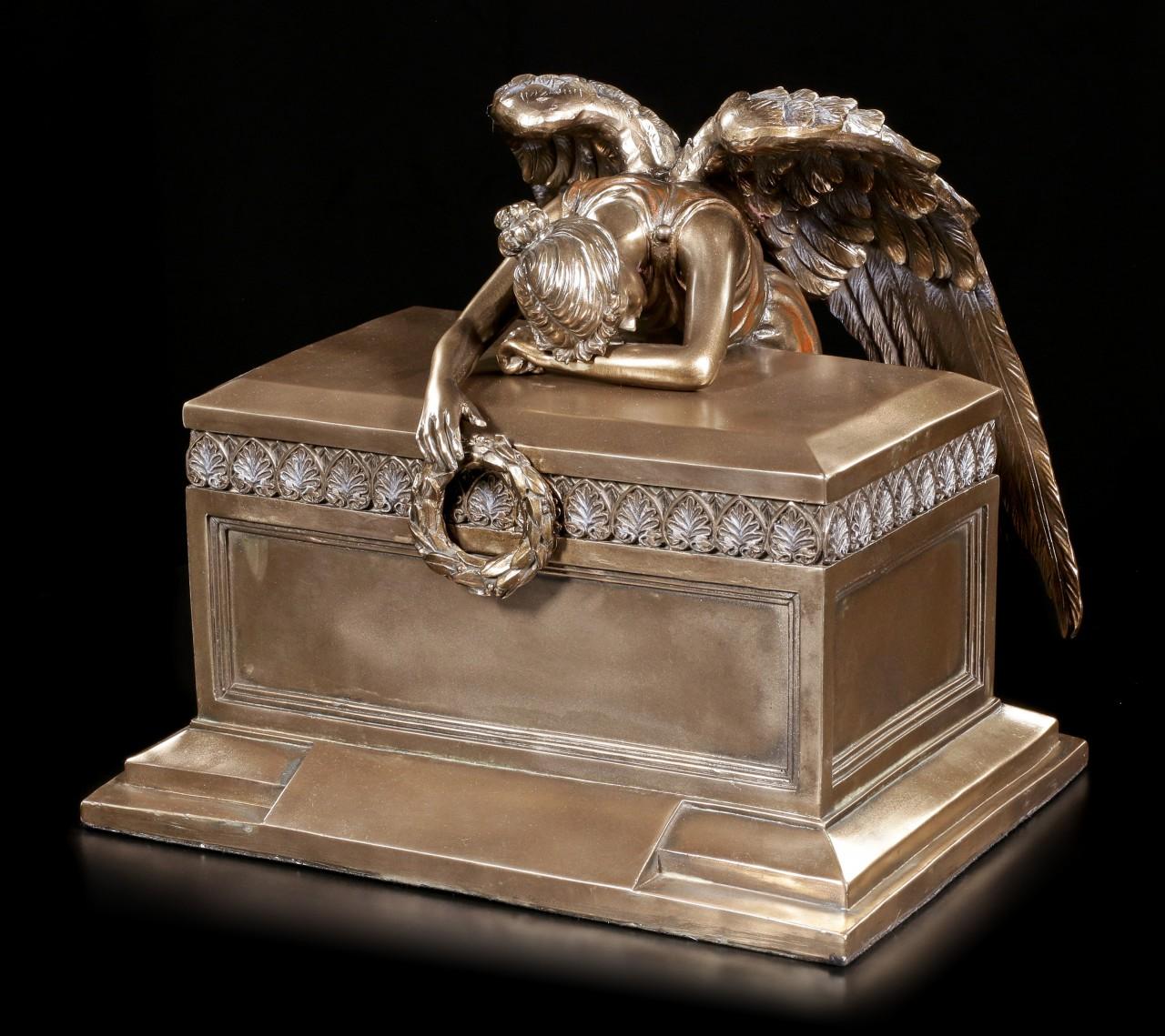 Tier Urne - Trauernder Engel