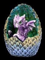 Dragon Figurines LED - Geode Home Set - green & purple