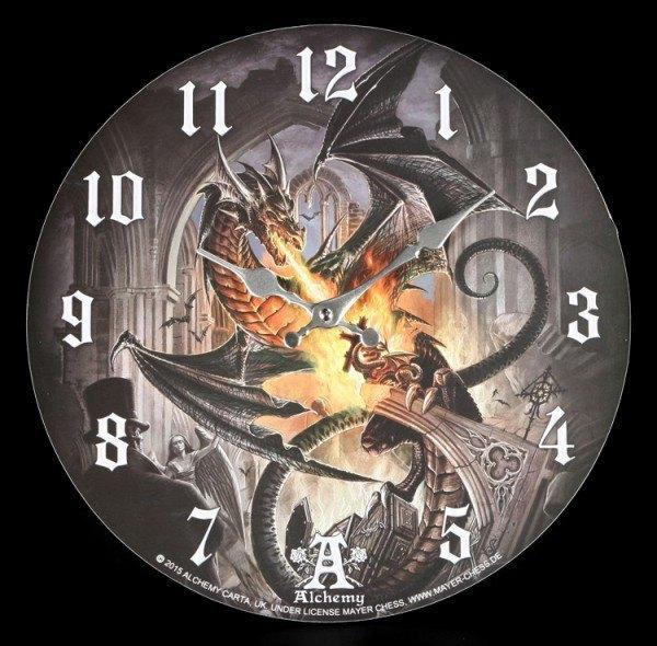 Wanduhr Drache - Order Of The Dragon - Alchemy