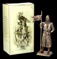 Knight Figurine - German Crusader with Banner