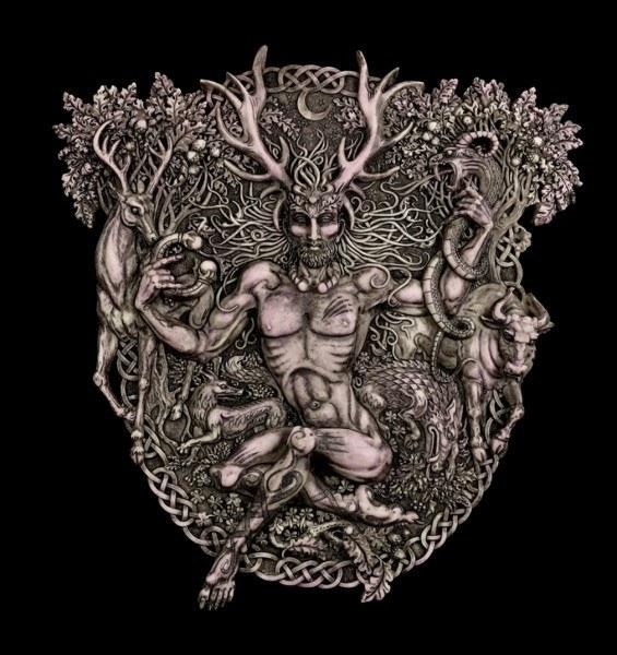 Wandrelief - keltischer Gott - Cernunnos