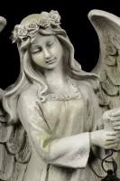Engel Gartenfigur mit Solar Laterne