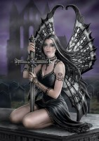 Greeting Card with Gothic Fairy - Lost Love