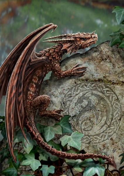 Drachen Grußkarte Fantasy - Spiny Woodland Hopper