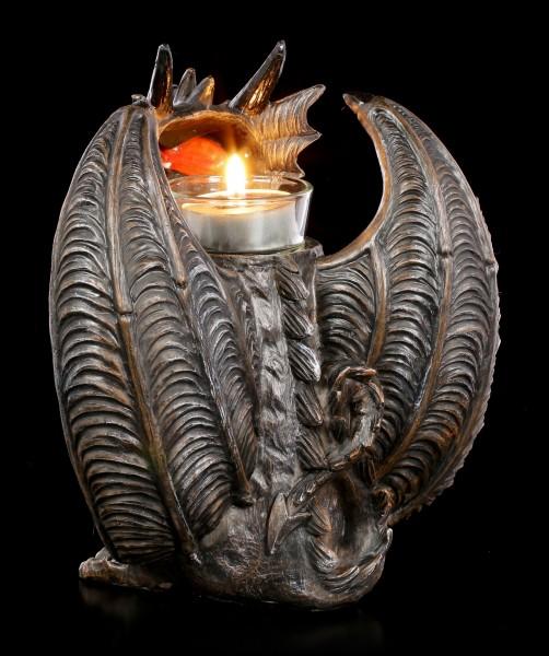 Tealight Holder - Fantasy Dragon