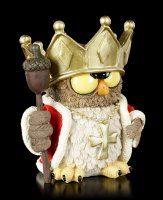 Funny Owl Figurine - Forest King