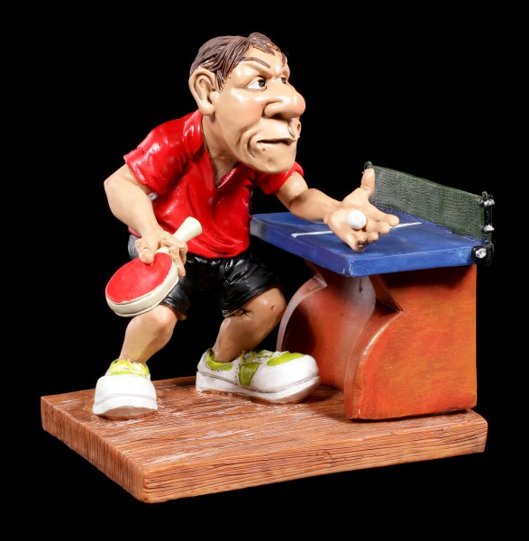 Table Tennis Player Figurine at Serve - Funny Sports