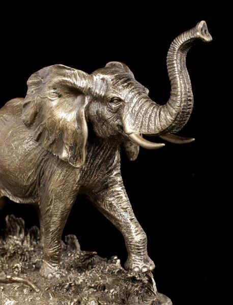 Elephant Figurine - Running in Veld