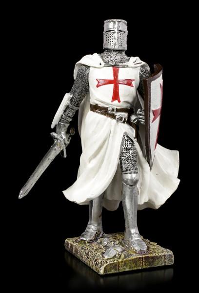 German Knight Templar Figurine with Sword and Shield