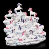 Unicorn Figurines with Cloud Display Set