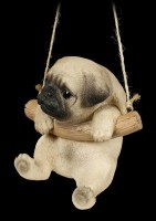 Hanging Dog Figurine - Pug Puppy