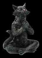 Meditating Zen Cat Figurines