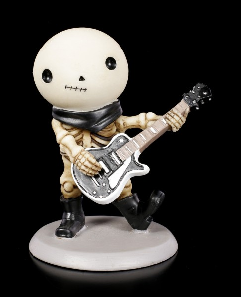 Skeleton Figurine - Rockstar Lucky with Guitar