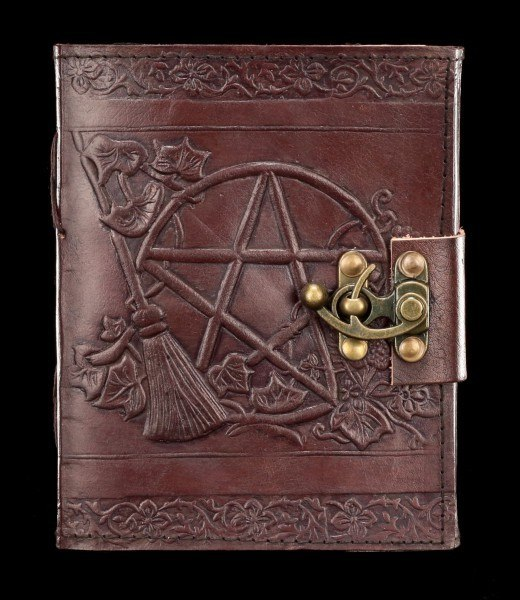 Leather Journal with Lock - Pentagram