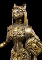 Bastet Figurine with Snake Body - bronzed