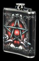 Flachmann - Baphomet mit Pentagramm