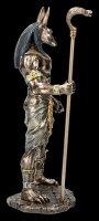 Anubis Figur mit Kobra Zepter