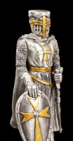 Pewter Knight - Maltese with Shield and Sword