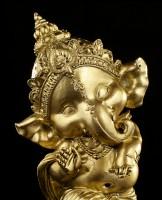 Dancing Ganesha Figurine - gold-colored